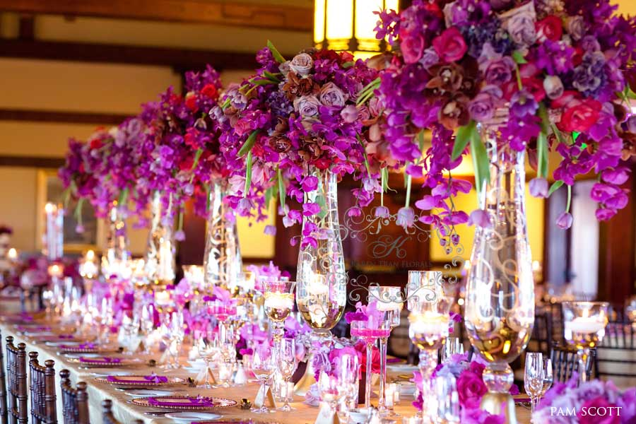 magenta wedding decor