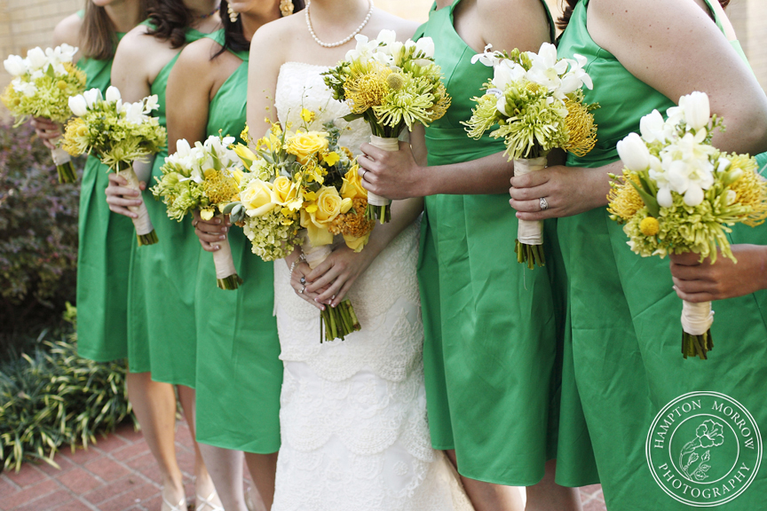 Kelly Green and Yellow Wedding
