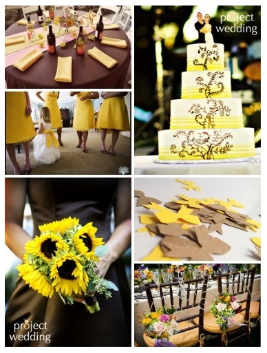 Brown and yellow wedding