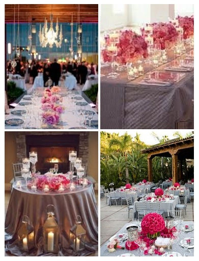 Pink Wedding Reception Weddings By The Color