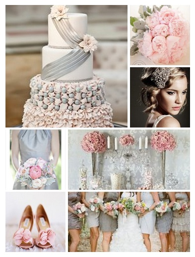 Wedding Color Palette: Pink and Grey - Weddings By the Color