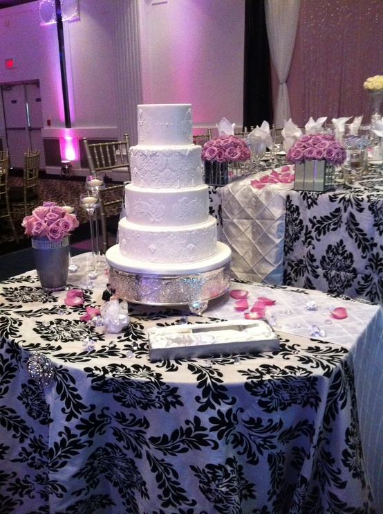 Black White And Pink Wedding Weddings By The Color