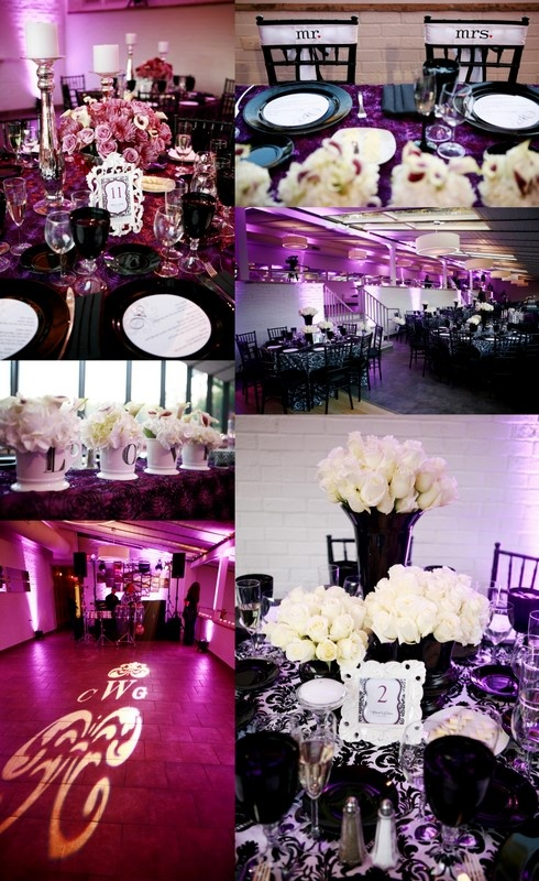 Black and white wedding ideas using with