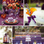 Orange and Purple Wedding Inspiration