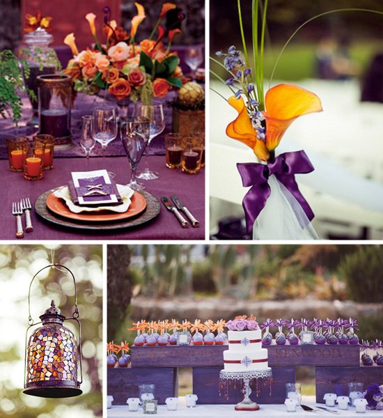 Orange And Purple Wedding Weddings By The Color