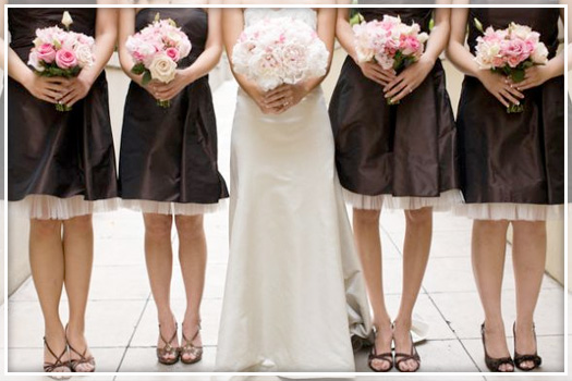 pale pink and brown wedding