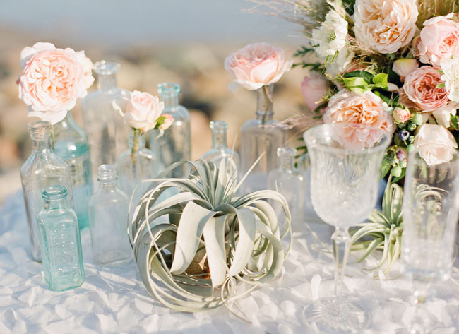Mint Green And Peach Wedding Decor