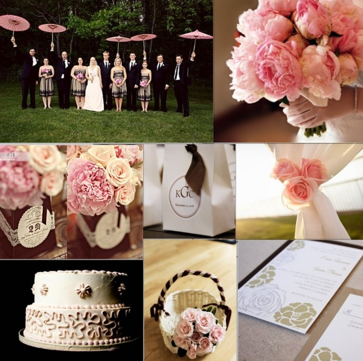 Pink And Brown Wedding Ideas: Wedding Color Inspiration: Pale Pink And Chocolate Brown