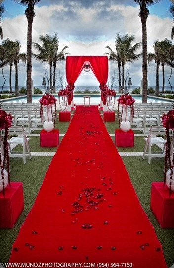 Red Aisle Wedding Color Theme Ideas Wedding By The Color