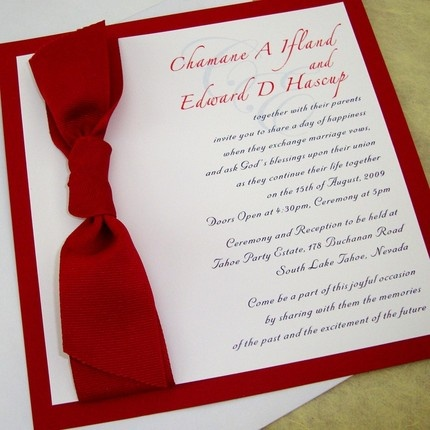red wedding invitations Weddings By the Color