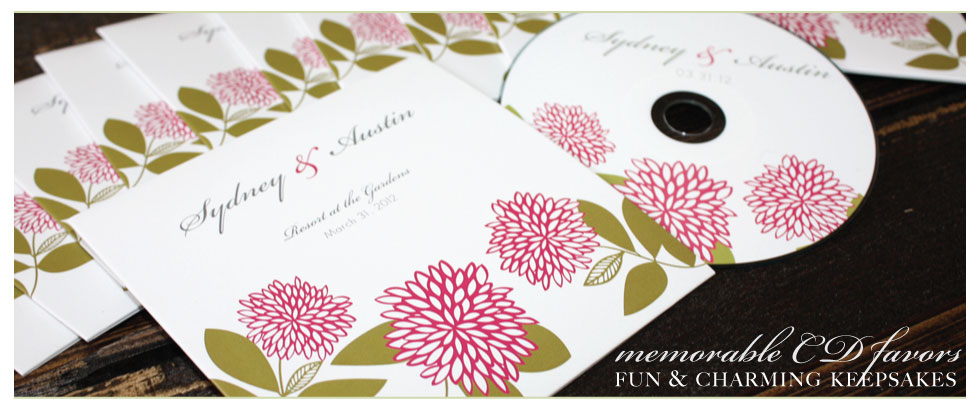 wedding cd favor