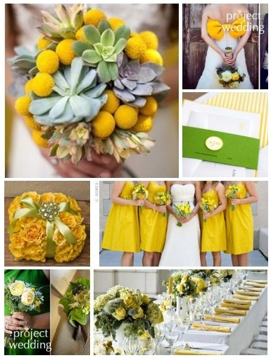 yellow and green inspiration board