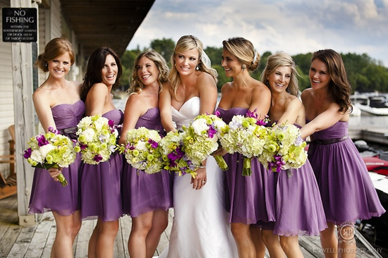 lavender and green wedding