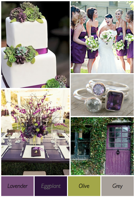 Purple green wedding color theme ideas001 weddings by the color purple and green wedding junglespirit Choice Image