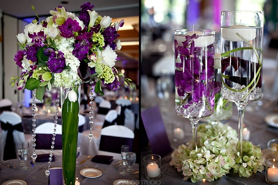 purple lavender and green wedding