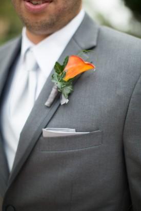 orange and gray groomsmen