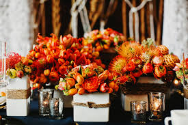 orange and blue wedding table 2