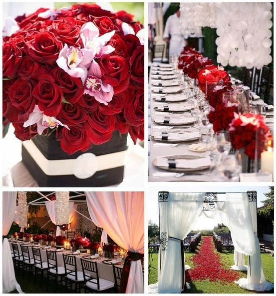 wedding ideas in red and white black white and weddings by the color 28224